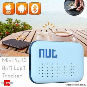 Nut3 Mini Bluetooth Smart Anti-lost GPS Finder Alarm Tag Locator Tracker for Key Blue Colour
