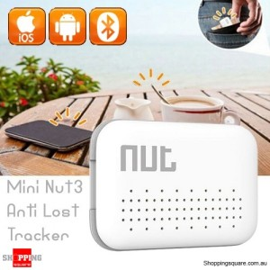 Nut3 Mini Bluetooth Smart Anti-lost GPS Finder Alarm Tag Locator Tracker for Key White Colour