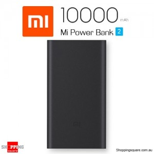 Genuine Xiaomi Mi Power Bank 2 10000mAh Quick Charge 2.0 Portable Charger for iPhone Android Black Colour