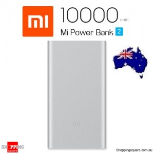 Genuine Xiaomi Power Bank 2 10000mAh Quick Charge 2.0 Portable Charger for iPhone Android AU Stock Silver Colour