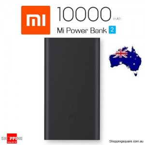 Genuine Xiaomi Power Bank 2 10000mAh Quick Charge 2.0 Portable Charger for iPhone Android AU Stock Black Colour