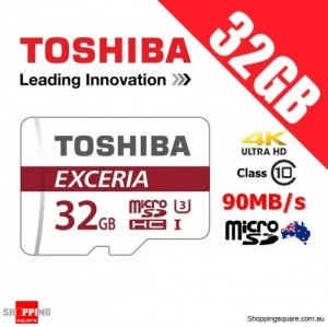 Toshiba Exceria 32GB microSD microSDHC Memory Card 90MB/s