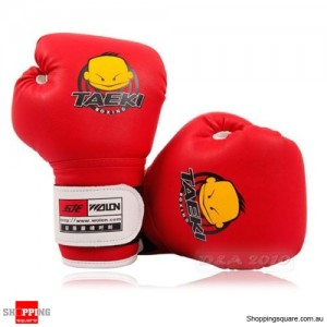 Kickboxing MMA Muay Thai Training Punching Bag Boxing Gloves for Kid Red Colour