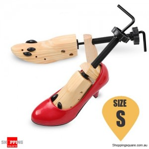 Unisex Wooden 2-Way Shoes Tree Shaper Stretcher Keepers Support Size S
