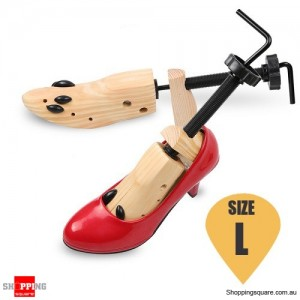 Unisex Wooden 2-Way Shoes Tree Shaper Stretcher Keepers Support Size L