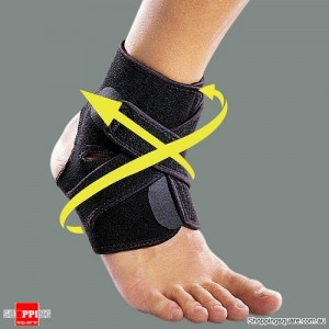 Adjustable Sports Compression Ankle Brace Support Stabilizer Elastic Foot Wrap