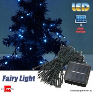 60 LED 8M Solar Powered String Fairy Light Decor for Xmas Party Wedding Garden Blue Colour