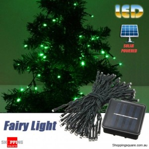 60 LED 8M Solar Powered String Fairy Light Decor for Xmas Party Wedding Garden Green Colour