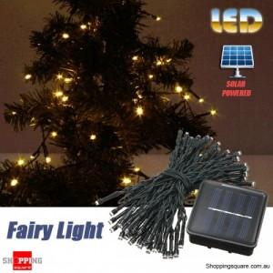 60 LED 8M Solar Powered String Fairy Light Decor for Xmas Party Wedding Garden Warm White Colour