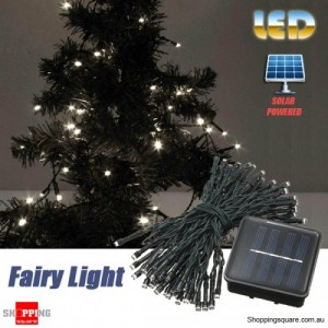 60 LED 8M Solar Powered String Fairy Light Decor for Xmas Party Wedding Garden White Colour
