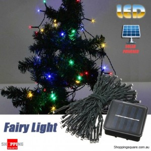 60 LED 8M Solar Powered String Fairy Light Decor for Xmas Party Wedding Garden Multicolour
