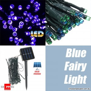 50 LED 5.2M Solar Powered String Fairy Light Lamp for Garden Path Chirstmas Outdoor Blue Colour