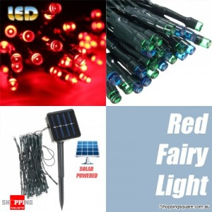 50 LED 5.2M Solar Powered String Fairy Light Lamp for Garden Path Chirstmas Outdoor Red Colour
