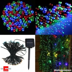 200 LED Solar Powered Fairy Light String for Garden Party Wedding Xmas Decor Multicoloured