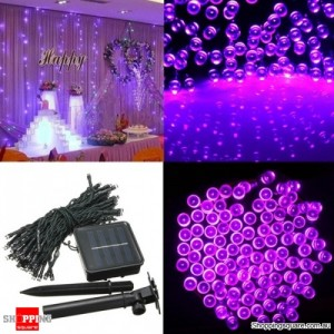 200 LED Solar Powered Fairy Light String for Garden Party Wedding Xmas Decor Purple Colour