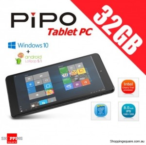 PiPO W2S 32GB Tablet PC 8 inch Dual OS Windows 10 + Android 5.1 Intel Z8300 Quad Core