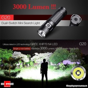 Klarus G20 XHP70 N4 3000LM 26650 EDC LED Flashlight for Outdoor Search