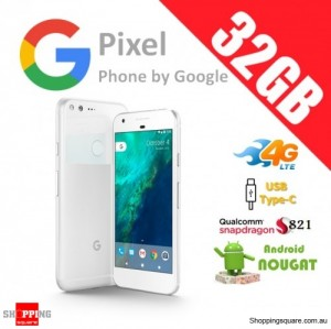 Google Pixel 32GB 4G LTE Unlocked Smart Phone Very Silver