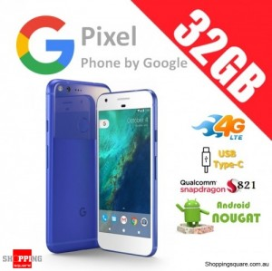 Google Pixel 32GB 4G LTE Unlocked Smart Phone Really Blue