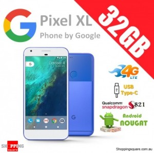 Google Pixel XL 32GB 4G LTE Unlocked Smart Phone Really Blue