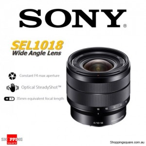Sony SEL1018 E 10-18mm F4 OSS E-Mount Camera Lens Black