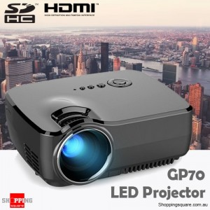 GP70 LCD Portable LED Projector Beamer 1200 Lumens Supported 1080P Full HD HDMI USB FHD SD for Home Theater