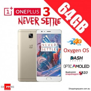 OnePlus 3 64GB A3003 Dual Sim 4G LTE Unlocked Smart Phone Soft Gold