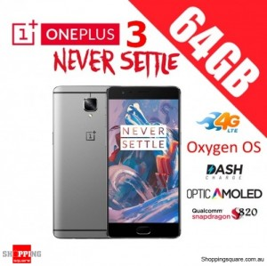 OnePlus 3 64GB A3003 Dual Sim 4G LTE Unlocked Smart Phone Graphite Black