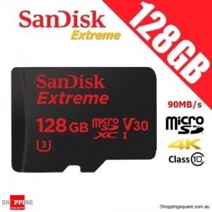 SanDisk Extreme 128GB microSD microSDXC UHS-I U3 TF Memory Card 90MB/s 4K V30