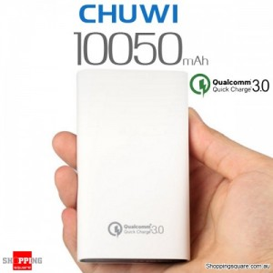 CHUWI Qualcomm Certified 10050mAh 18W Two-way Quick Charge QC3.0 Power Bank for iPhone Android White Colour