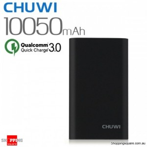 CHUWI Qualcomm Certified 10050mAh 18W Quick Charge QC3.0 Power Bank for iPhone Android Black Colour