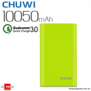 CHUWI Qualcomm Certified 10050mAh 18W Quick Charge QC3.0 Power Bank for iPhone Android Green Colour