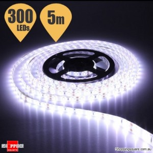 5M Waterproof IP65 SMD 5630 300 LED DC12V Strip Light Decor Pure White Colour
