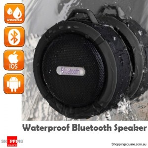 Portable Bluetooth Waterproof Wireless Speaker Handsfree with MIC for Music Car Shower Black Colour