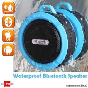 Portable Bluetooth Waterproof Wireless Speaker Handsfree with MIC for Music Car Shower Blue Colour