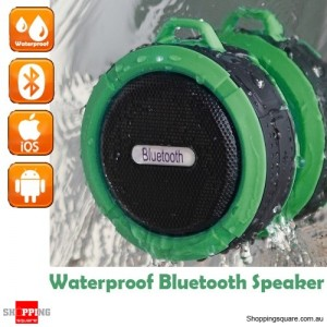Portable Bluetooth Waterproof Wireless Speaker Handsfree with MIC for Music Car Shower Green Colour