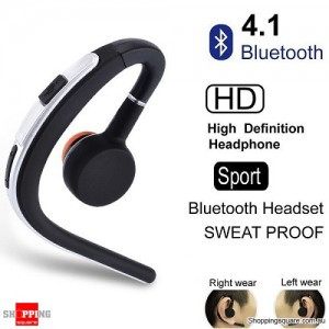 Wireless Bluetooth V4.1 Sports Headset for iPhone Samsung Silver Colour