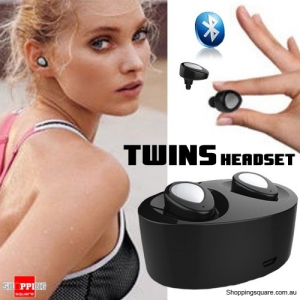 Bluetooth Earpods with Charging Dock - suitable for iPhone, Android and Windows Phone - Black/Silver
