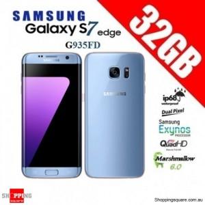 Samsung Galaxy S7 Edge Duos G935FD 4G 32GB Dual-SIM Unlocked Smartphone Blue Coral