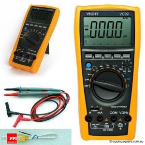 VC99 Digital Auto Range Multimeter  Voltmeter Thermometer Resistance Supported AC DC w/ Bag