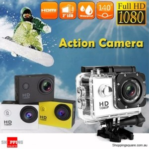 HD 1080P Waterproof Sports Action Video Camera DV with 2 Inch LCD Silver Colour