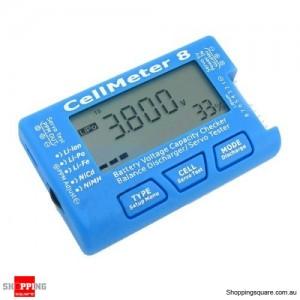 AOK CellMeter 8 Multifunctional Digital Battery Capacity Checker Tester for Lipo Servo 2S-8S
