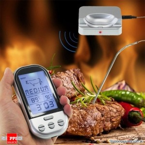 Wireless Remote Digital Food Thermometer For Meat BBQ Grill
