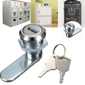 Cam Lock for Desk Drawer Arcade Cupboard Mailbox File Cabinet with 2 Keys
