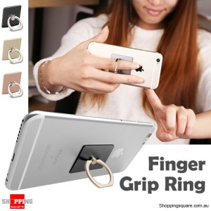 Universal Finger Ring Grip Holder Stand for Samsung S6 S7 edge iPhone 7 6s Plus Black Colour