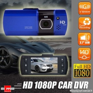 1080P Dash DV DVR Car Video Camera Black Box Recorder Blue Colour