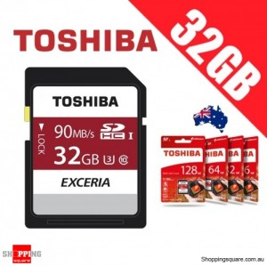 Toshiba Exceria 32GB SDHC SDXC Memory Card UHS-I U3 4K FHD Up to 90MB/s