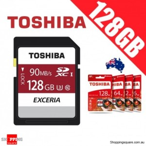 Toshiba Exceria 128GB SD SDXC Memory Card UHS-I U3 4K FHD Up to 90MB/s