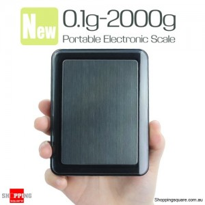 Portable Mini 2000g 0.1g Professional Digital Precision Weight Scale Balance for Lab Kitchen Pocket