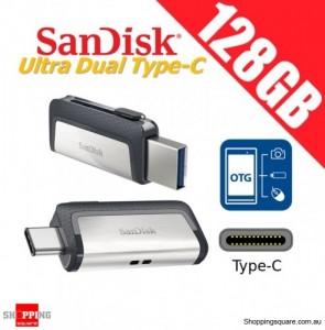 SanDisk Ultra Dual Drive 128GB USB Type-C USB 3.1 Smartphone Tablet PC 150MB/s